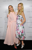 Poppy Delevingne and Suki Waterhouse in Emilia Wickstead at The British Fashion Council and Stylebop.com's celebration of the London Style Suites.