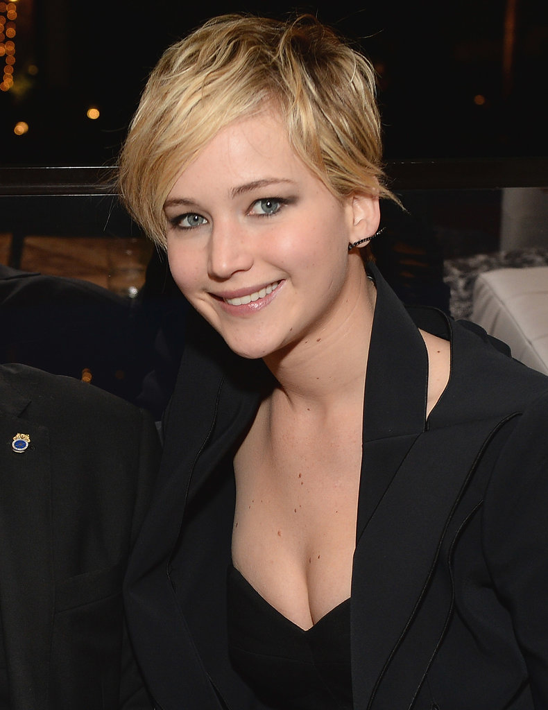Jennifer Lawrence showed off her new pixie at AFI Fest 2013.