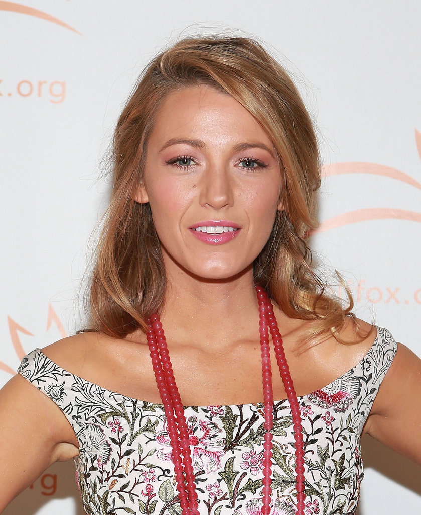 Blake Lively paired pinks with her makeup at the 2013 A Funny Thing Happened on the Way to Cure Parkinson's event.