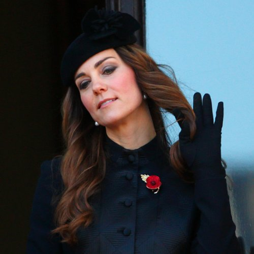 Kate Middleton With Curly Hair at Remembrance Sunday
