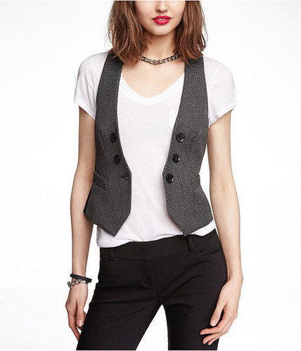 Studio Stretch Faux Double Breasted Vest