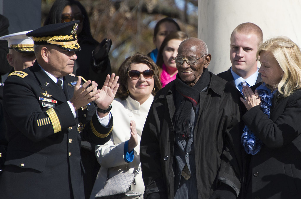 President Obama recognized Richard Overton, who's believed to be the oldest living American World War II veteran at age 101.