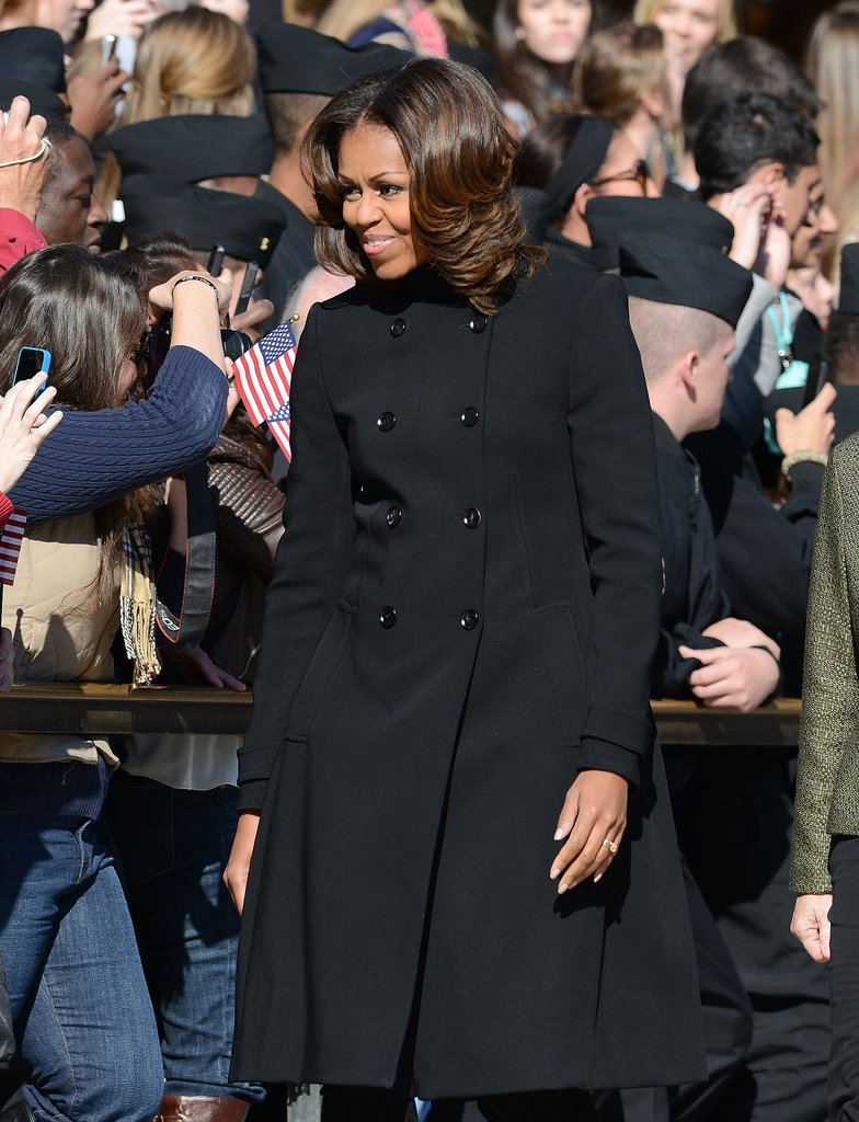 First Lady Michelle Obama stepped out for the Veterans Day ceremony at Virginia's Arlington National Cemetery.