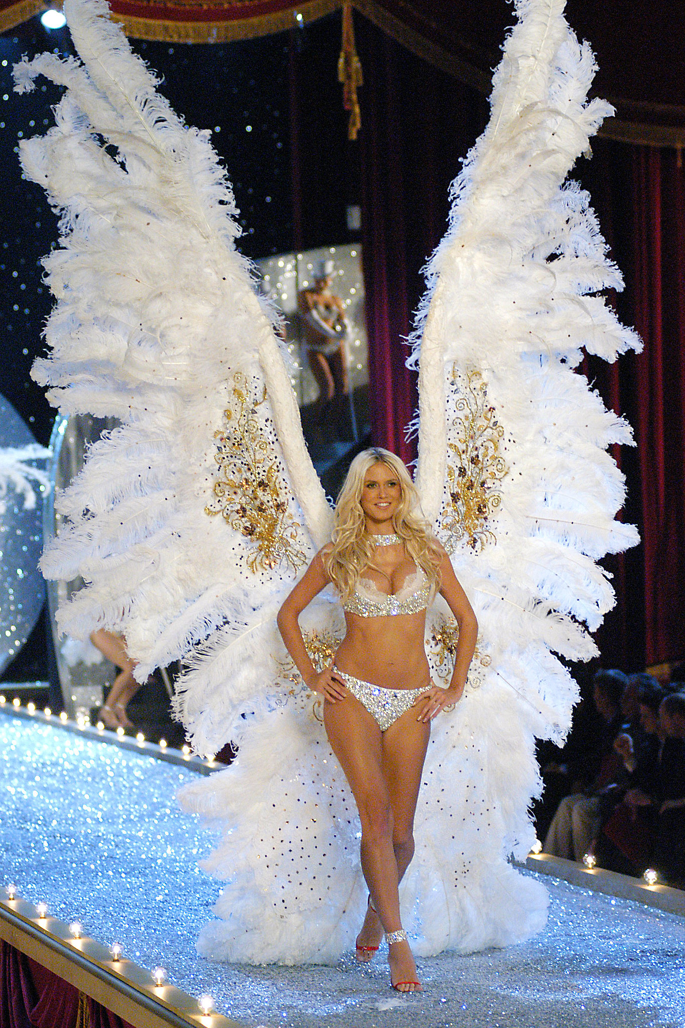 Heidi Klum looked downright ethereal in her wings during the 2003 runway show.