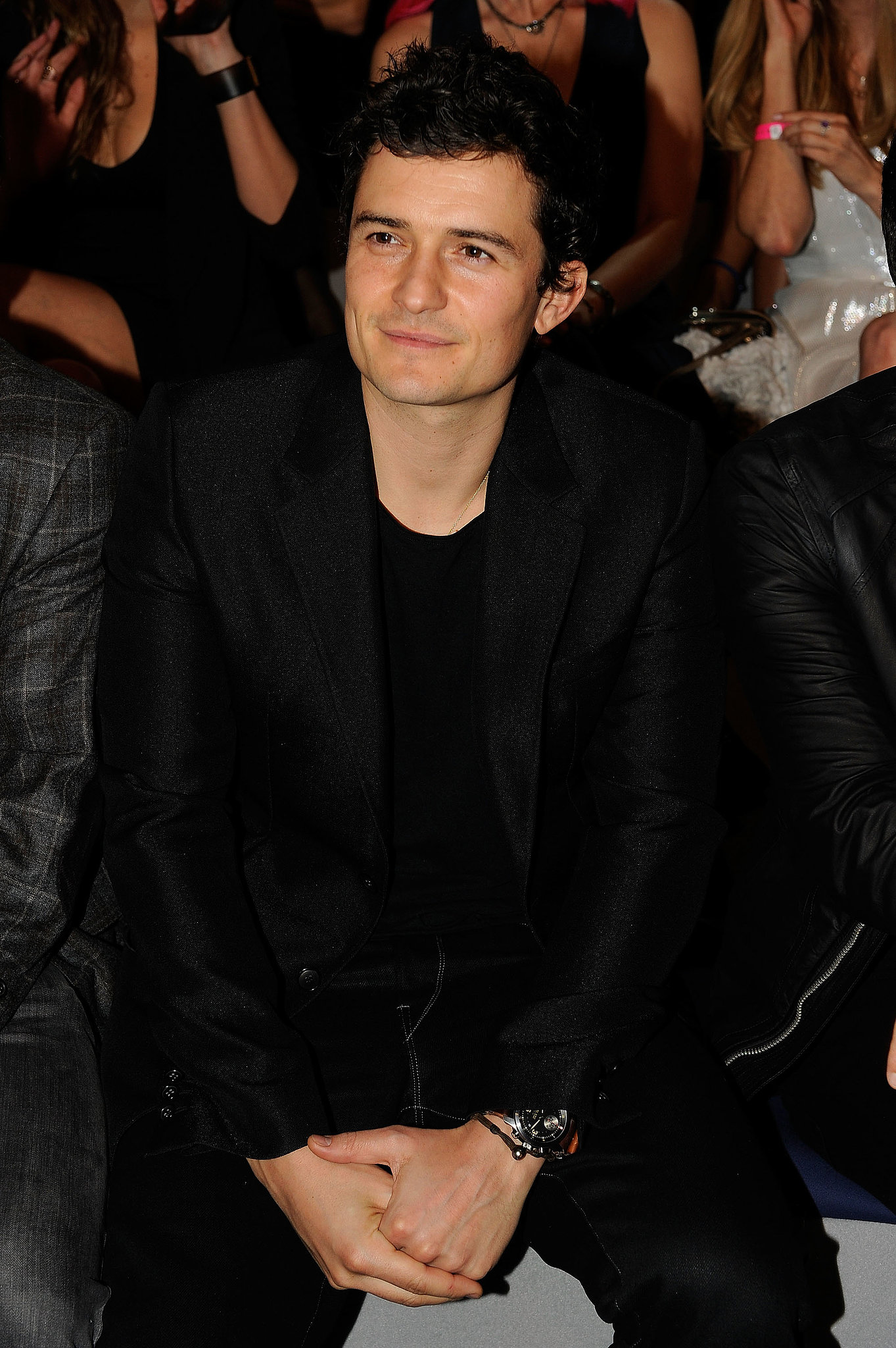 Orlando Bloom watched his wife in 2011 from the front row.