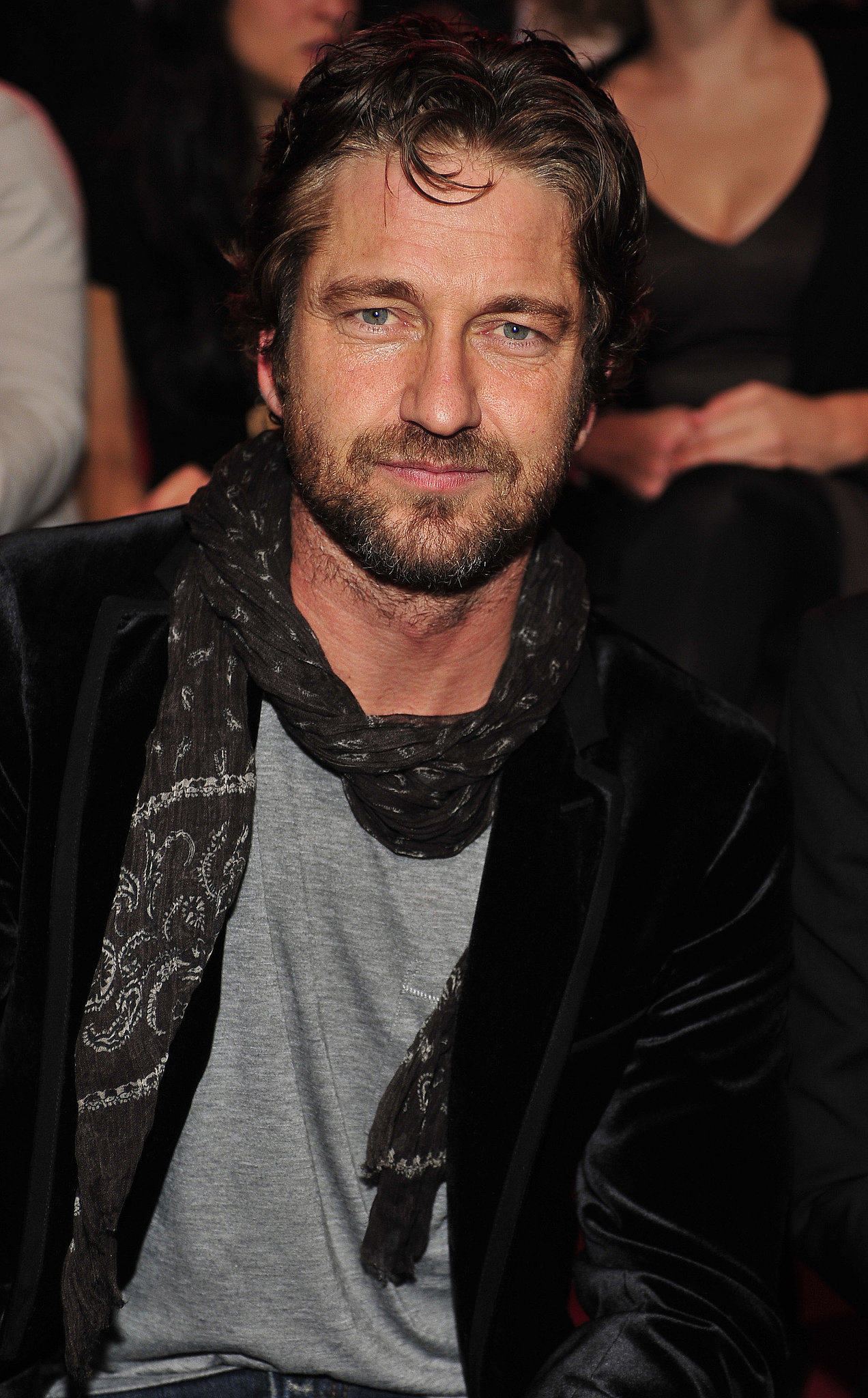 Gerard Butler had a great view of the models during the 2010 show.