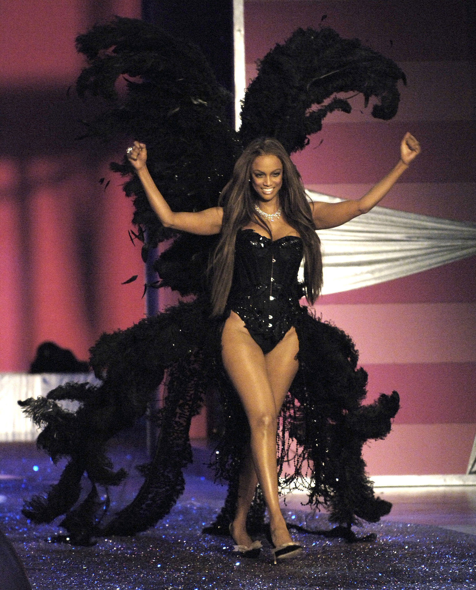 Tyra took her final stroll down the Victoria's Secret runway in 2005.