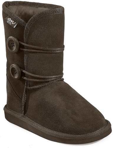 EMU Wool Kids Shoes, Girls or Little Girls Hip Button Lo 2 Boots