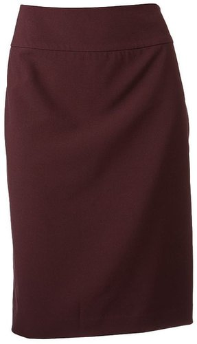 212 Collection Solid Pencil Skirt