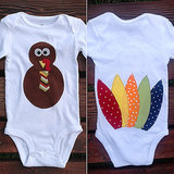 Turkey Feather Onesie