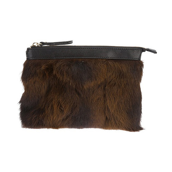 Rika Rabbit Fur Clutch Bag ($331)