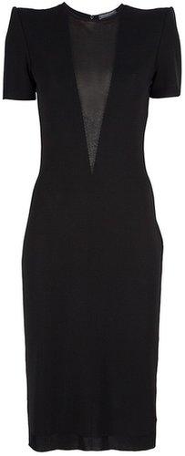 Alexander McQueen sheer panel dress