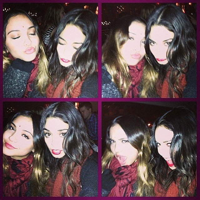 Vanessa Hudgens and her sister, Stella, posed for a series of cute shots. Source: Instagram user vanessahudgens