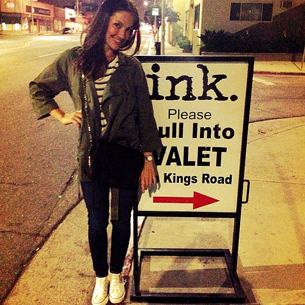Minka Kelly posted outside of the Ink restaurant in LA. Source: Instagram user minkak