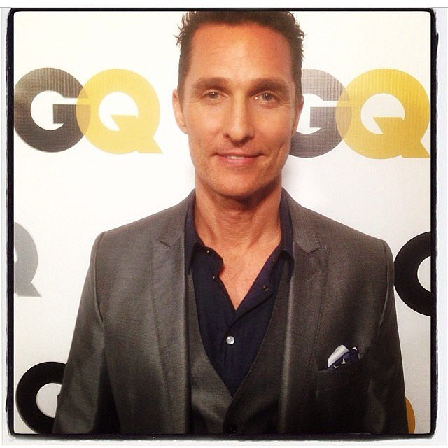 Matthew McConaughey hit the red carpet for the GQ Men of the Year party in LA. Source: Instagram user gq
