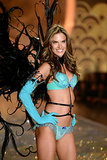 Alessandra Ambrosio flashed her big smile when she worked the catwalk.