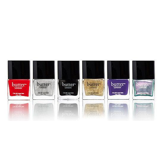 For the ultimate in glamorous holiday nails, pick up Butter London's The Illusionists Lacquer Collection ($15 per polish). The mix of textures and hues will allow you to create a whole range of polish looks.