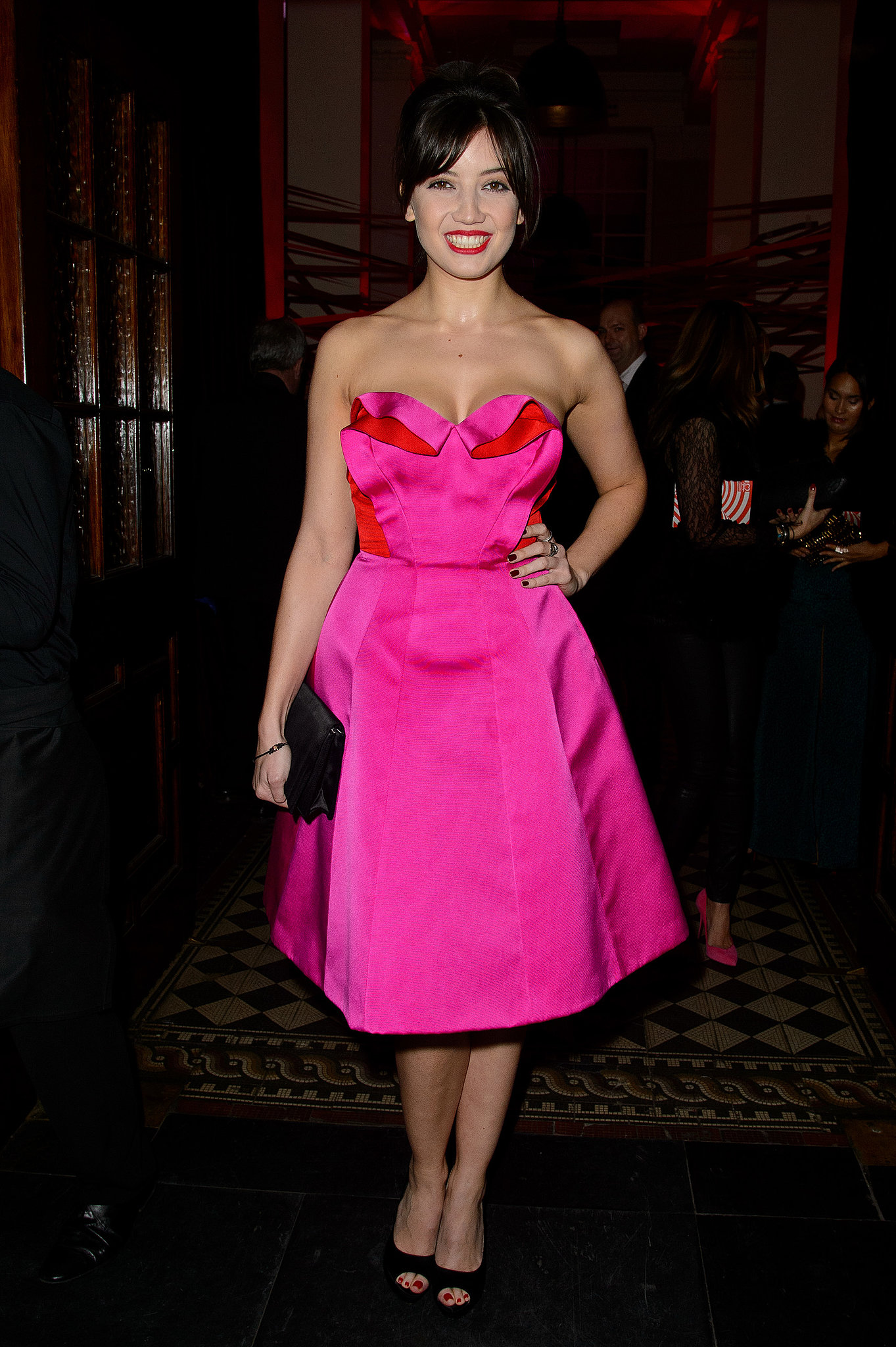 Daisy Lowe in Miu Miu at the Tunnel of Love fundraiser.