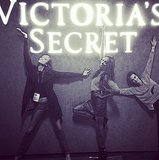 Karlie Kloss, Jourdan Dunn, and Cara Delevingne, at your service! Source: Instagram user caradelevingne