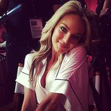 Candice Swanepoel gave a sweet pose. Source: Instagram user catquinn