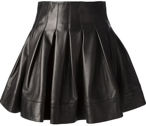 Sly 010 flared leather skirt