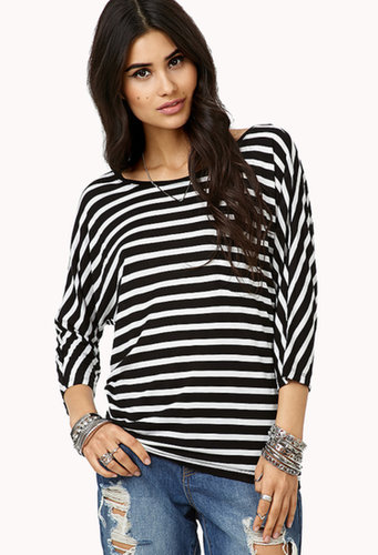FOREVER 21 Everyday Striped Tee