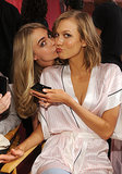 Cara Delevingne gave Karlie Kloss a sweet kiss on the cheek before the two models wowed the crowd.