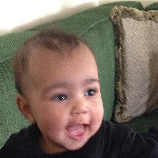 Like mother, like daughter! North West knows how to work it for the camera.  Source: Instagram user kimkardashian