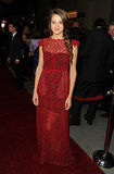 For the 2012 Directors Guild of America Awards, Shailene oozed sophistication in a rich sheer lace Valentino stunner.