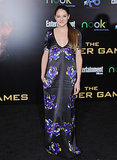 For The Hunger Games LA premiere, Shailene looked Cali-cool in a silky floral Honor maxi detailed with low-key pockets and a sexy deep neckline.