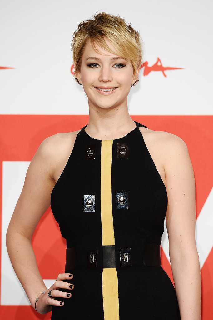 Jennifer Lawrence wore interesting earrings.