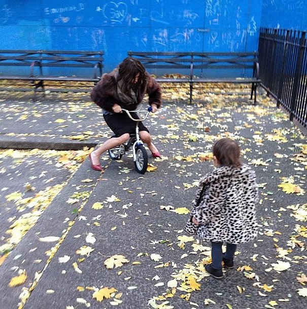 Carine Roitfeld isn't just a chic grandmother; she's a fun one, too! Source: Instagram user carineroitfeld