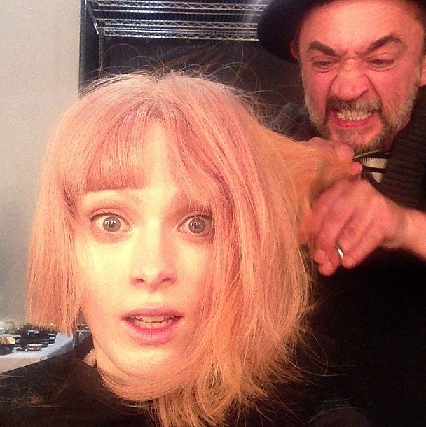 Chop chop, Karen Elson. Source: Instagram user misskarenelson