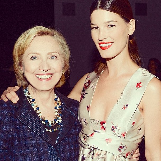 At a screening of White Gold, Hanneli Mustaparta showed her support for Hillary Clinton. Source: Instagram user voguemagazine