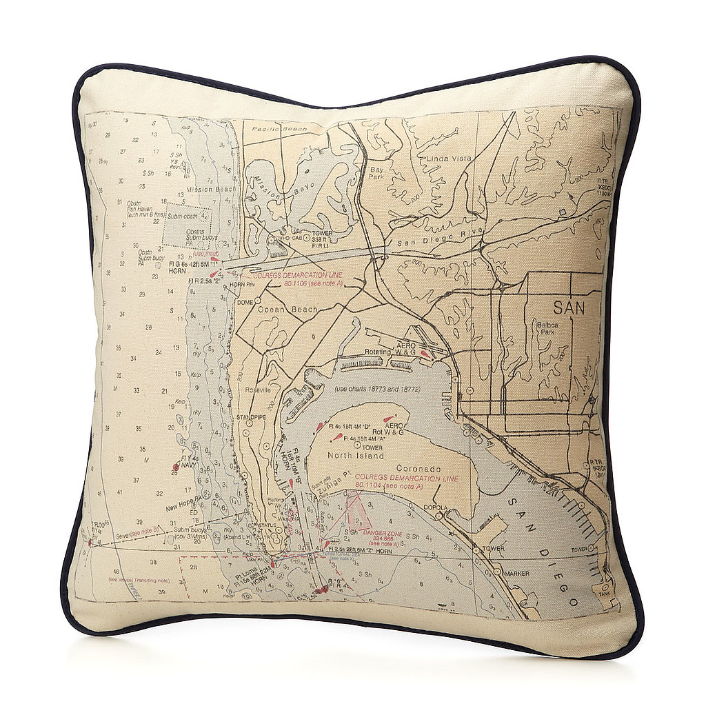 Heather Jernegan Custom Map Pillow