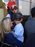 A little boy showed his support for BatKid.