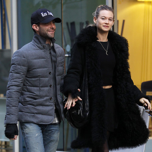 Adam Levine in NYC With Fiancee Behati Prinsloo
