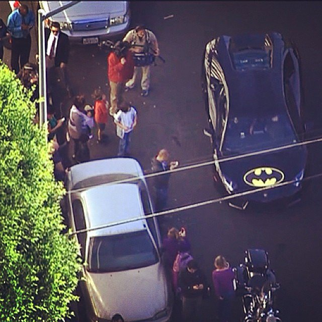 Batkid made his way through the streets in his Batmobile. S