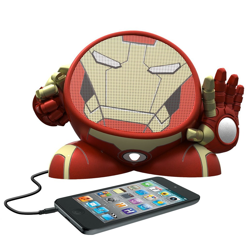 eKids Marvel Avengers Iron Man Rechargeable Character Speaker
