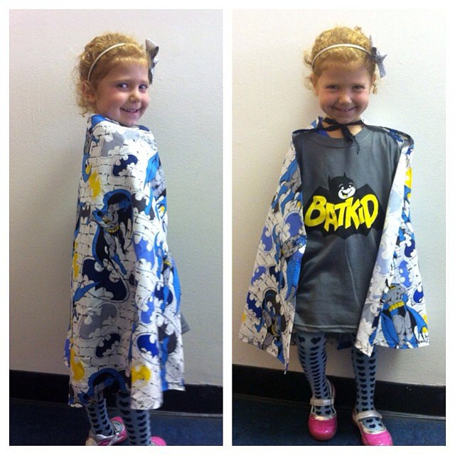 Another adorable young San Franciscan showed her support with a Batkid shirt and cape.  Source: Instagram user lisapopsugar
