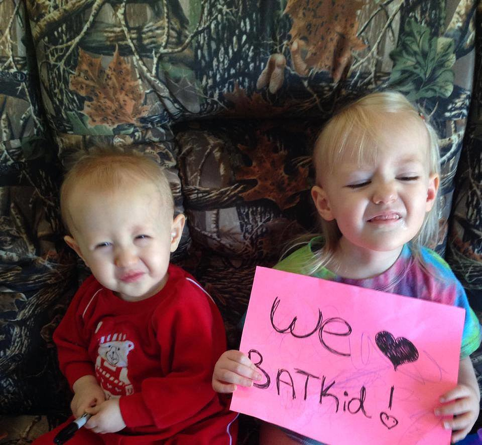 Little fans share their support. Source: Facebook user Batkid Photo Project