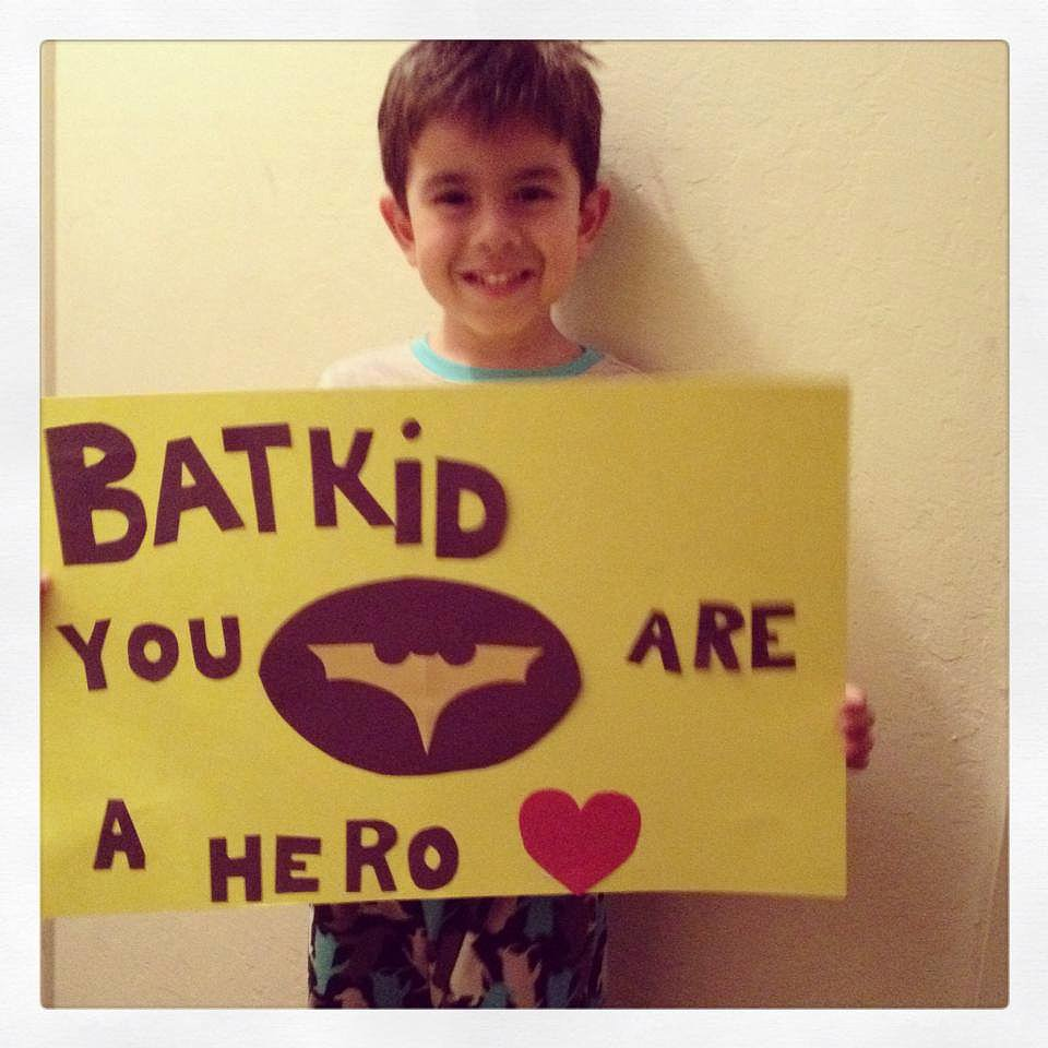 An act as brave as saving an entire city is a heroic one indeed! Source: Facebook user Batkid Photo Project