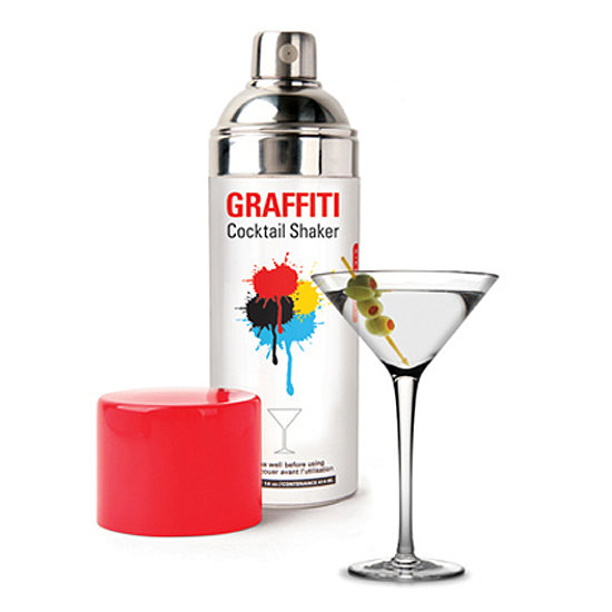 spray paint can cocktail shaker 20 quirky white elephant food gifts. Black Bedroom Furniture Sets. Home Design Ideas