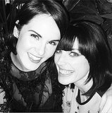 Also at the table: Michelle Dockery and Jessica Paré. Source: Instagram user theladydockers