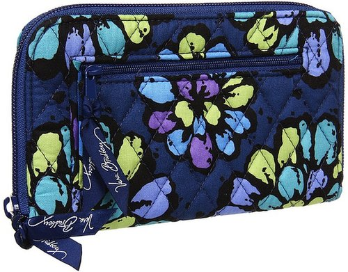 Vera Bradley - Zip Around Wallet (Indigo Pop) - Bags and Luggage