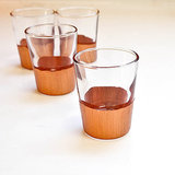 Copper-Dipped Shot Glasses