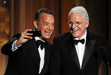 Tom Hanks and Steve Martin snapped a selfie on stage at the Governors Awards.