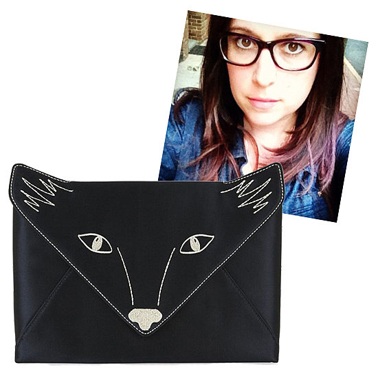 "@shiraselko Foxy Embroidered Satin Envelope Clutch ($118) ""If I had this adorable fox clutch, I might even want to leave the house! Even if I don't, it will make a great pet."""