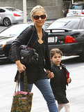 Sarah Michelle Gellar took her daughter, Charlotte, to her ballet lesson on Saturday in LA.