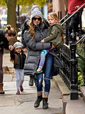 Sarah Jessica Parker carried Loretta to school on Friday in NYC.